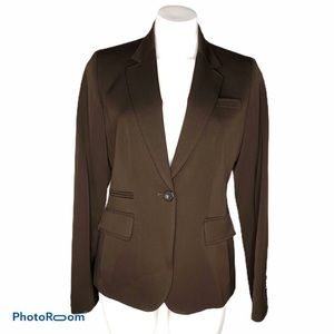 J. Crew 100% Wool One Button Brown Fitted Blazer